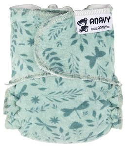 Butterflies (mint) Fitted diaper snapless