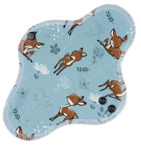 Deer (dark blue) Menstrual pad with PUL