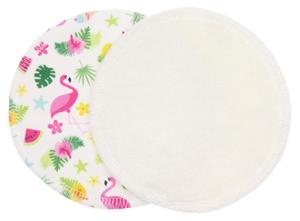 Cream/Flamingos (PUL) Nursing pads