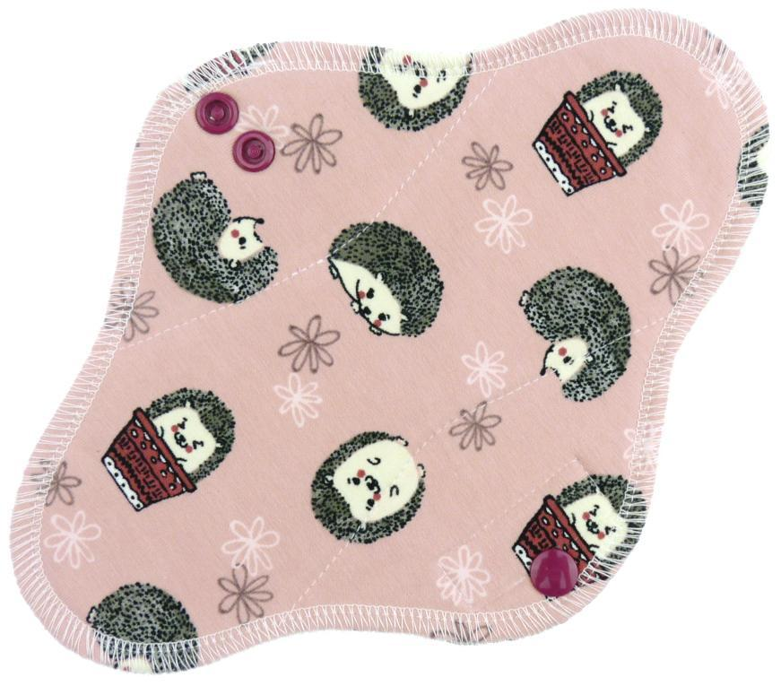 Hedgehogs II. (pink) Menstrual pad with PUL