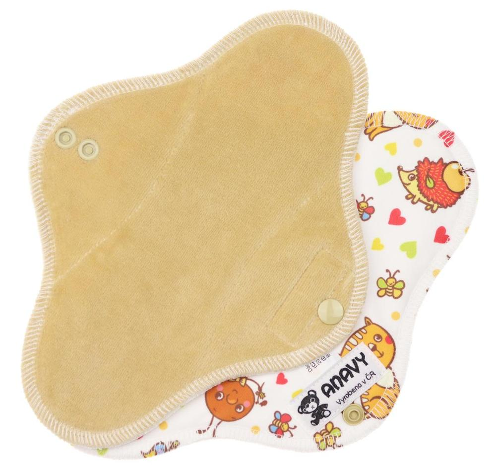 Latte/Farm Animals Menstrual pad with PUL
