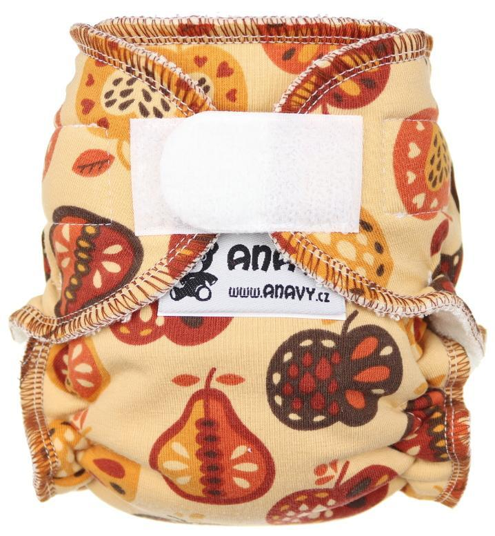 Fruits Fitted diaper with velcro