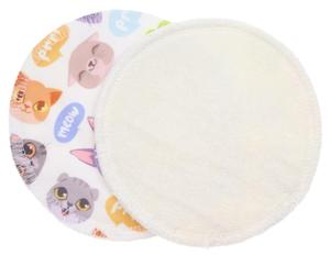 Cream/Cats (PUL) Nursing pads