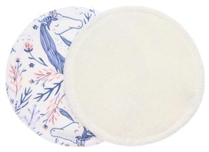 Cream/Unicorns (PUL) Nursing pads