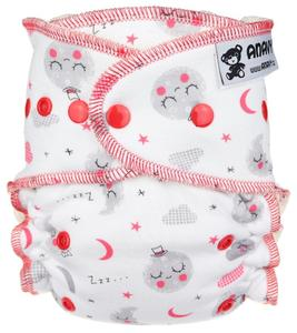 Sleeping moon Fitted diaper with snaps