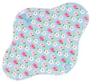 Little flowers (blue) Menstrual pad with PUL
