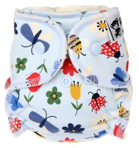 Meadow (light blue) Fitted diaper with snaps