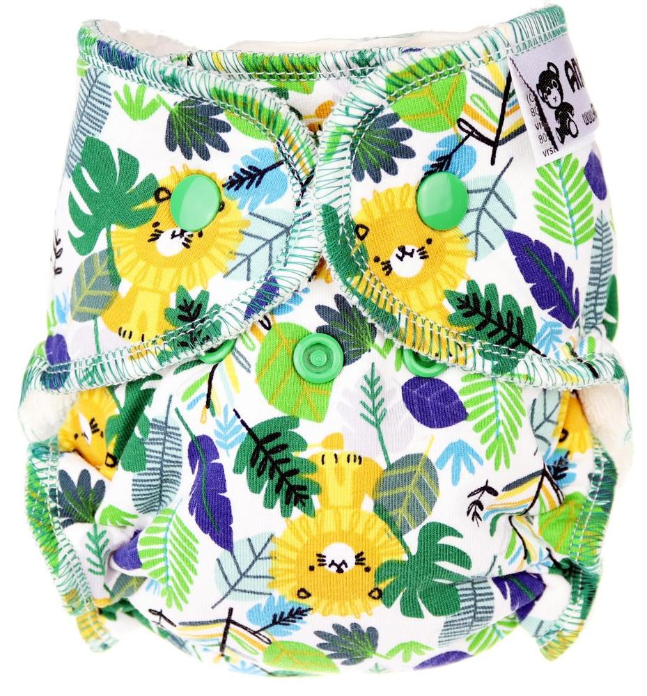 Jungle Fitted diaper with snaps