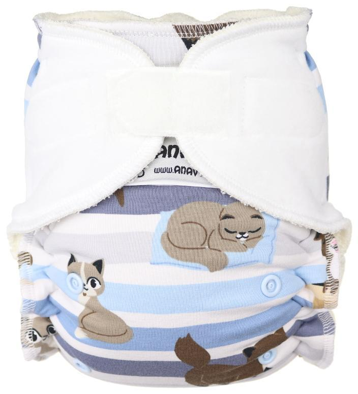 Cats Fitted diaper with velcro