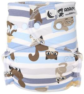 Cats Fitted diaper with snaps