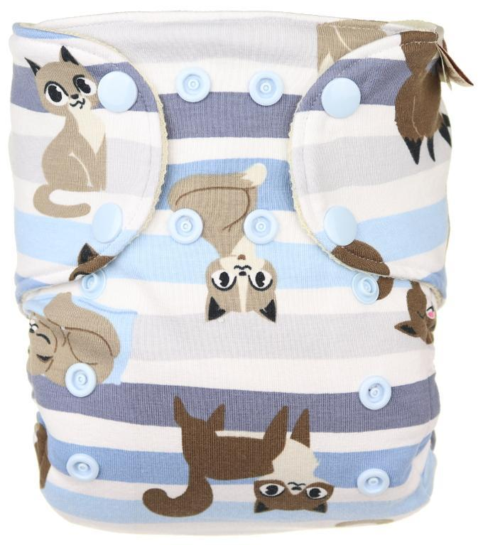Cats Wool diaper cover with snaps