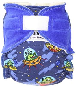 Flying saucer Fitted diaper with velcro