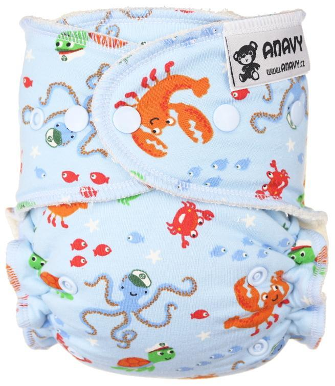 Ocean Fitted diaper with snaps