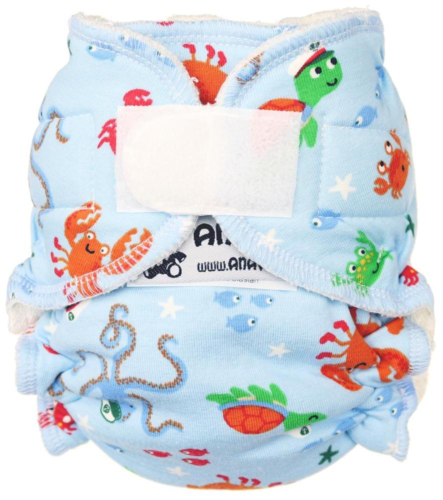 Ocean Fitted diaper with velcro