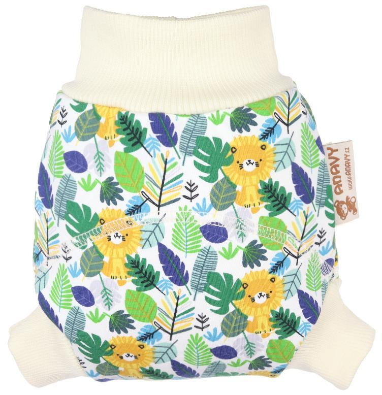 Jungle Wool diaper cover pull-up