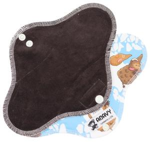 Dark brown/Mammoth Menstrual pad with PUL
