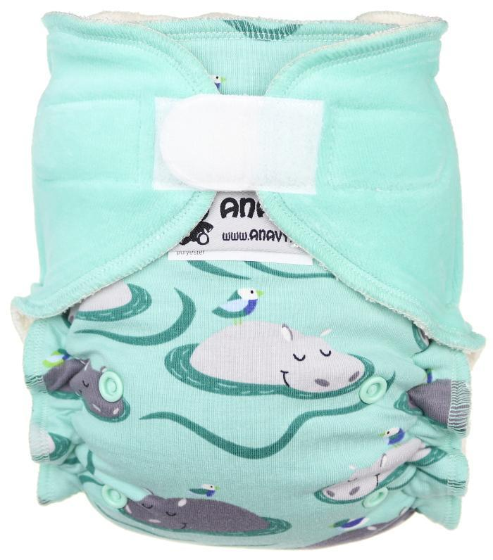 Hippos Fitted diaper with velcro