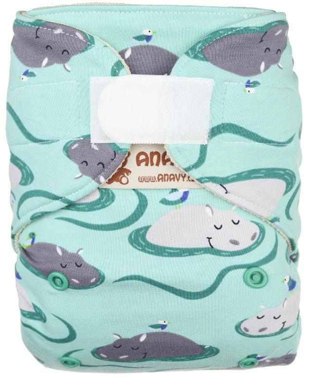 Hippos Wool diaper cover with velcro