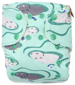 Hippos Wool diaper cover with snaps