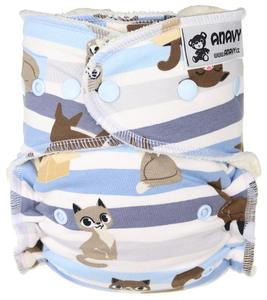Cats II. quality Fitted diaper with snaps