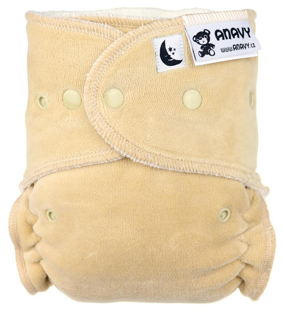 Beige II. quality Fitted diaper with snaps