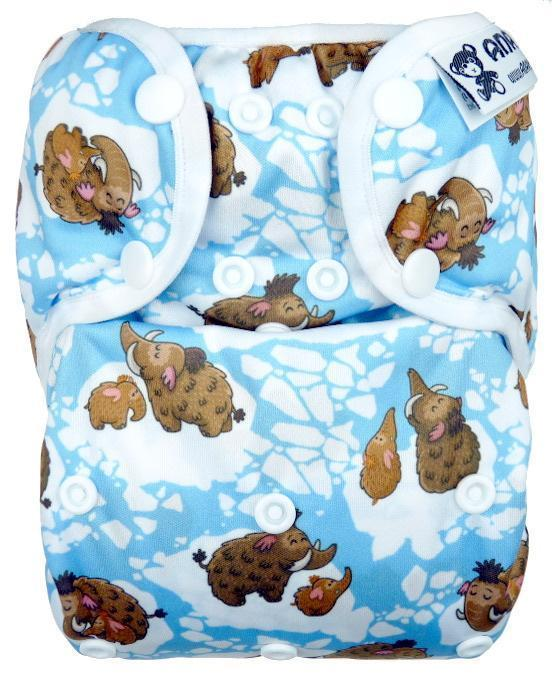 Mammoths II. quality PUL diaper cover with snaps