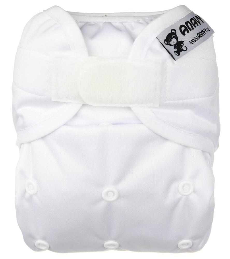 White II. quality PUL diaper cover with velcro