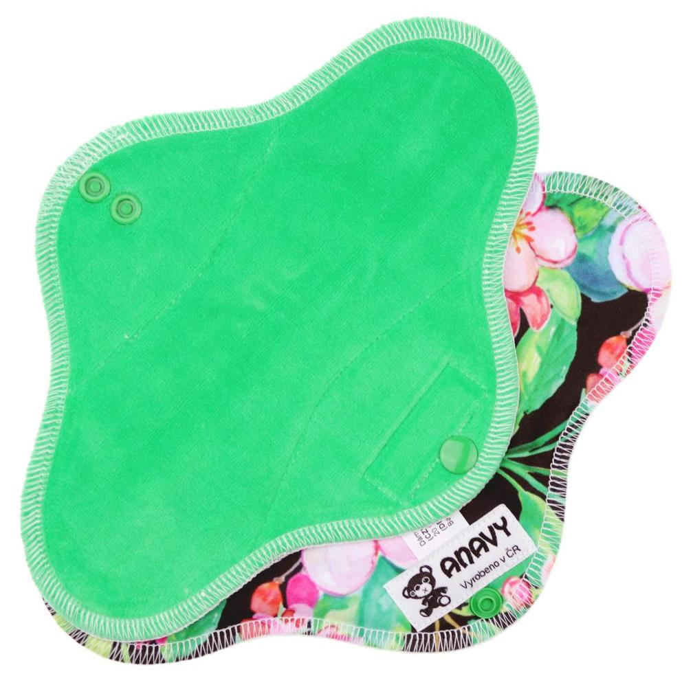 Pine/Pink flowers Menstrual pad with PUL