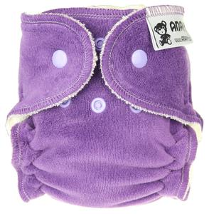 Dark violet Fitted diaper with snaps