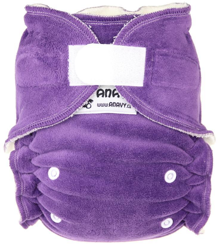 Dark violet Fitted diaper with velcro