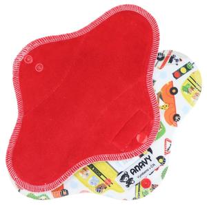 Strawberry/City traffic Menstrual pad with PUL