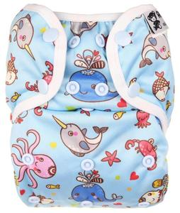 Ocean II. quality PUL diaper cover with snaps