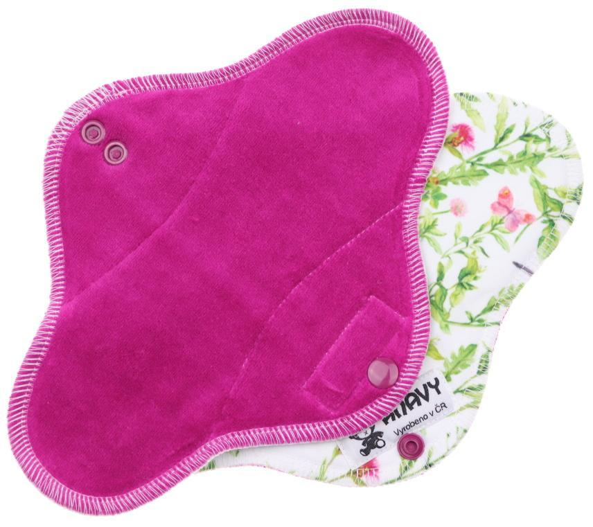Blackberry/Bird in a meadow Menstrual pad with PUL
