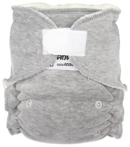 Grey Fitted diaper with velcro
