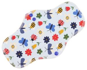 Meadow (light blue) Menstrual pad with fleece