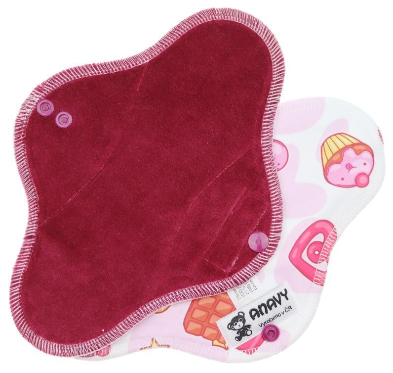 Wine/Sweets Menstrual pad with PUL