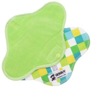 Grass/Squares Menstrual pad with PUL
