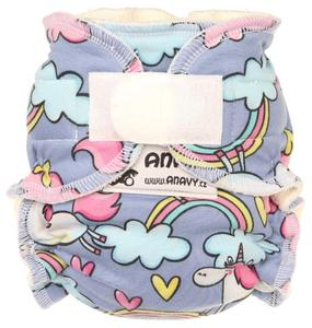 Unicorns in the sky Fitted diaper with velcro