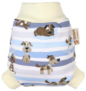 Dogs (blue) Wool diaper cover pull-up