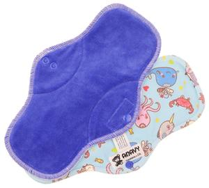 Blueberry/Ocean Menstrual pad with PUL