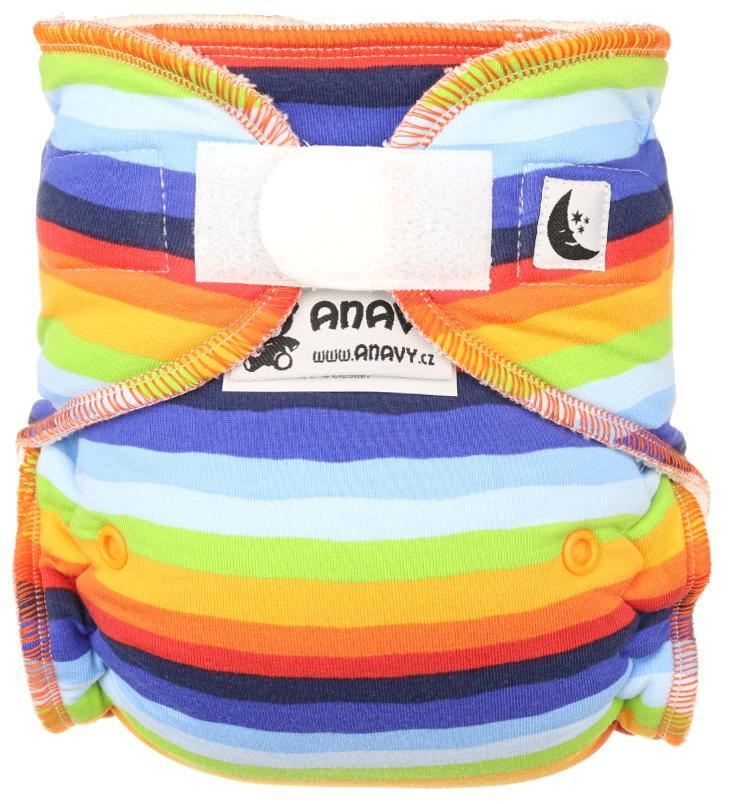 Rainbow Fitted diaper with velcro