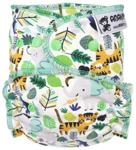 Jungle life Fitted diaper with snaps