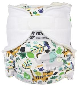 Jungle life Fitted diaper with velcro