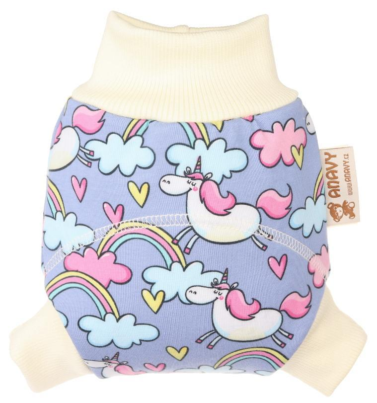 Unicorns in the sky Wool diaper cover pull-up
