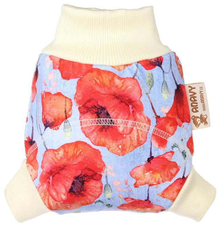 Poppies Wool diaper cover pull-up