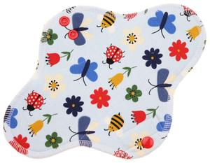 Meadow (light blue) Menstrual pad with PUL