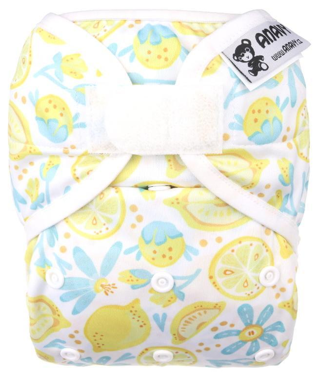 Lemons PUL diaper cover with velcro