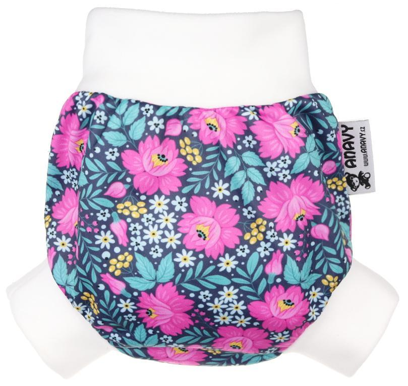 Flowers PUL diaper cover pull-up