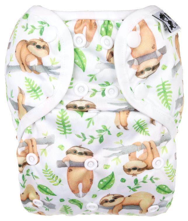 Sloths PUL diaper cover with snaps