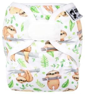 Sloths PUL diaper cover with velcro